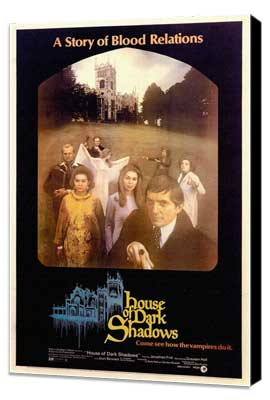 House of Dark Shadows - 11 x 17 Movie Poster - Style A - Museum Wrapped Canvas
