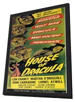 House of Dracula - 11 x 17 Movie Poster - Style B - in Deluxe Wood Frame