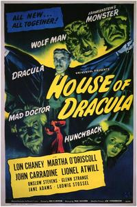 House of Dracula - 43 x 62 Movie Poster - Bus Shelter Style A