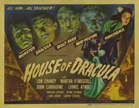 House of Dracula - 22 x 28 Movie Poster - Half Sheet Style A