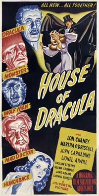 House of Dracula - 14 x 36 Movie Poster - Insert Style A
