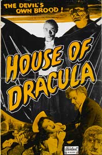 House of Dracula - 11 x 17 Movie Poster - Style C