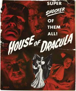 House of Dracula - 27 x 40 Movie Poster - Style D