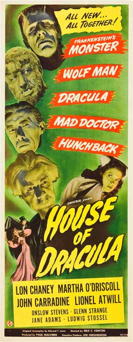 House of Dracula - 14 x 36 Movie Poster - Insert Style B