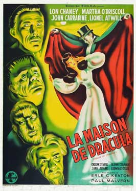 House of Dracula - 11 x 17 Movie Poster - French Style A