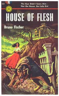 House of Flesh - 11 x 17 Retro Book Cover Poster