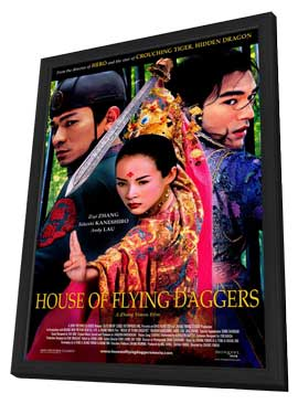 House of Flying Daggers - 27 x 40 Movie Poster - Style A - in Deluxe Wood Frame