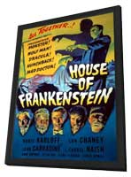 House of Frankenstein - 11 x 17 Movie Poster - Style D - in Deluxe Wood Frame
