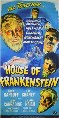 House of Frankenstein - 11 x 17 Movie Poster - Style B