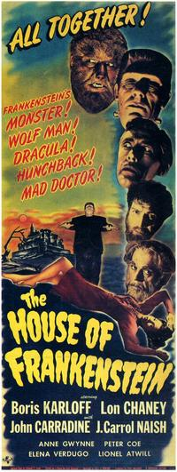House of Frankenstein - 11 x 17 Movie Poster - Style C
