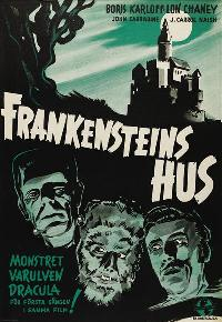 House of Frankenstein - 27 x 40 Movie Poster - Swedish Style A