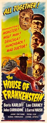 House of Frankenstein - 14 x 36 Movie Poster - Insert Style A