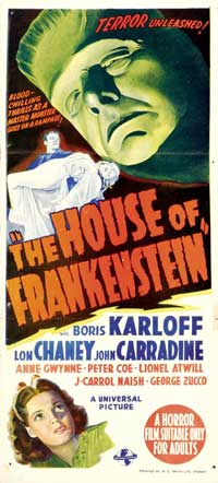 House of Frankenstein - 20 x 40 Movie Poster - Style A
