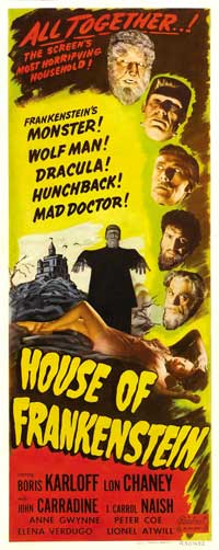 House of Frankenstein - 14 x 36 Movie Poster - Insert Style B