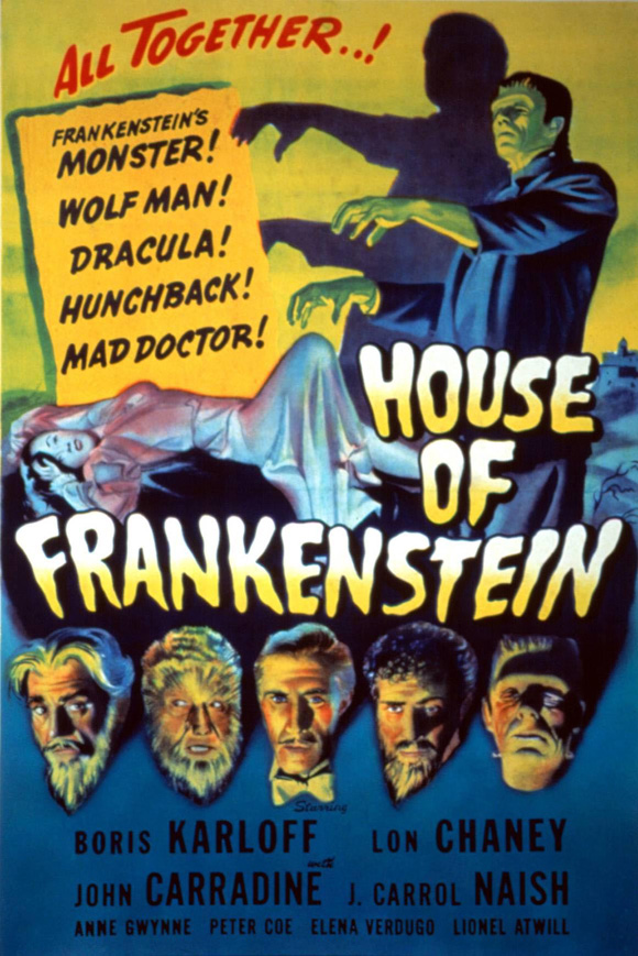 house of frankenstein movie posters from movie poster shop