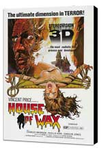 House of Wax - 27 x 40 Movie Poster - Style B - Museum Wrapped Canvas