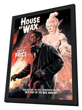 House of Wax - 27 x 40 Movie Poster - Style E - in Deluxe Wood Frame