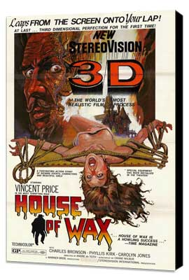 House of Wax - 11 x 17 Movie Poster - Style B - Museum Wrapped Canvas