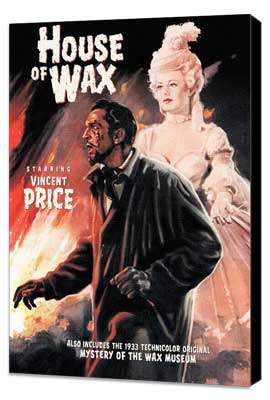 House of Wax - 27 x 40 Movie Poster - Style E - Museum Wrapped Canvas