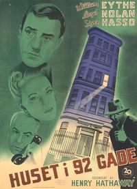 House on 92nd Street - 11 x 17 Movie Poster - Danish Style A