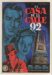 House on 92nd Street - 11 x 17 Movie Poster - Spanish Style B