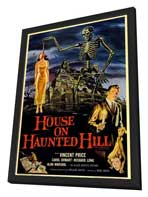 House on Haunted Hill - 11 x 17 Movie Poster - Style A - in Deluxe Wood Frame