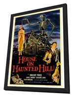 House on Haunted Hill - 27 x 40 Movie Poster - Style A - in Deluxe Wood Frame