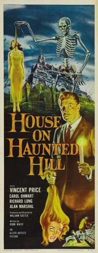 House on Haunted Hill - 20 x 60 - Door Movie Poster - Style A