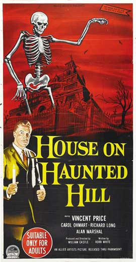 House on Haunted Hill - 13 x 30 Movie Poster - Australian Style A