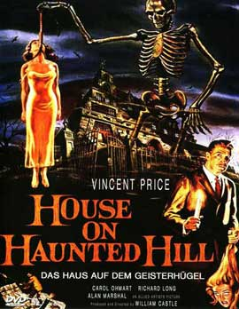 House on Haunted Hill - 11 x 17 Movie Poster - German Style A