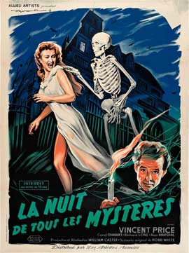 House on Haunted Hill - 11 x 17 Movie Poster - French Style B