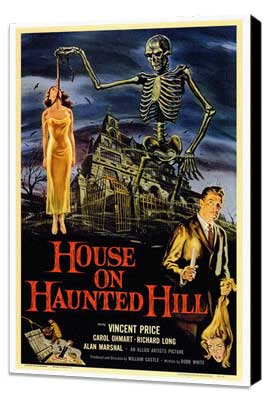 House on Haunted Hill - 27 x 40 Movie Poster - Style A - Museum Wrapped Canvas