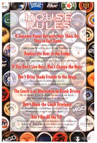 House Rules Poker - Inspirational Posters - 24 x 36 - Style A