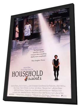 Household Saints - 11 x 17 Movie Poster - Style A - in Deluxe Wood Frame