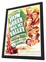 How Green Was My Valley - 27 x 40 Movie Poster - Style A - in Deluxe Wood Frame