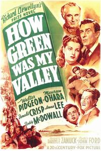 How Green Was My Valley - 11 x 17 Movie Poster - Style A