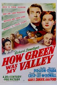 How Green Was My Valley - 27 x 40 Movie Poster - Style B