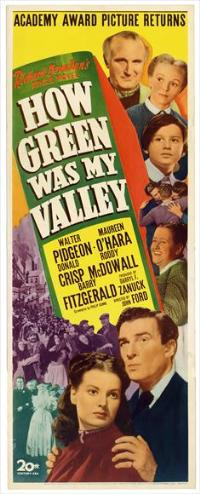 How Green Was My Valley - 14 x 36 Movie Poster - Insert Style A