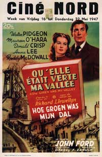 How Green Was My Valley - 11 x 17 Movie Poster - Belgian Style A
