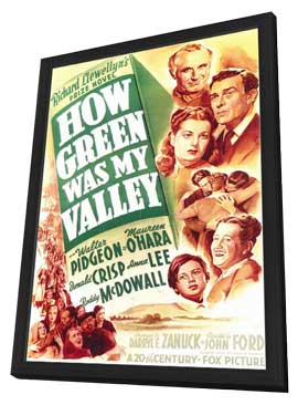 How Green Was My Valley - 11 x 17 Movie Poster - Style A - in Deluxe Wood Frame