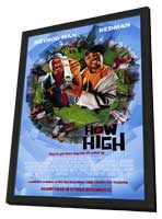 How High - 11 x 17 Movie Poster - Style A - in Deluxe Wood Frame