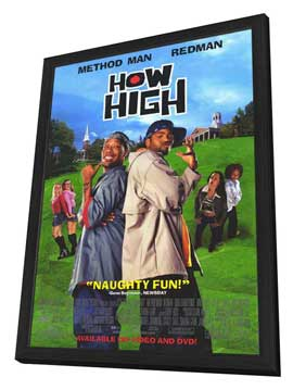 How High - 27 x 40 Movie Poster - Style B - in Deluxe Wood Frame