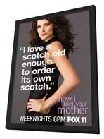 How I Met Your Mother - 11 x 17 TV Poster - Style C - in Deluxe Wood Frame