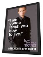 How I Met Your Mother - 11 x 17 TV Poster - Style F - in Deluxe Wood Frame