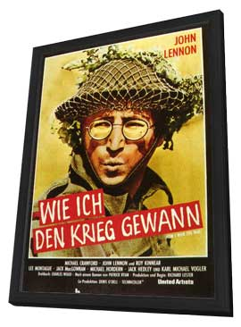 How I Won the War - 11 x 17 Movie Poster - German Style A - in Deluxe Wood Frame