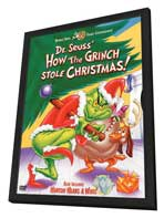 How the Grinch Stole Christmas - 11 x 17 Movie Poster - Style D - in Deluxe Wood Frame