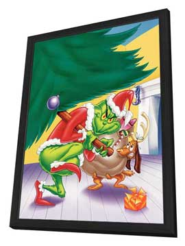 How the Grinch Stole Christmas - 27 x 40 Movie Poster - Style A - in Deluxe Wood Frame