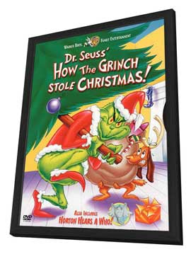How the Grinch Stole Christmas - 27 x 40 Movie Poster - Style B - in Deluxe Wood Frame