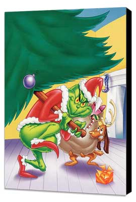 How the Grinch Stole Christmas - 27 x 40 Movie Poster - Style A - Museum Wrapped Canvas