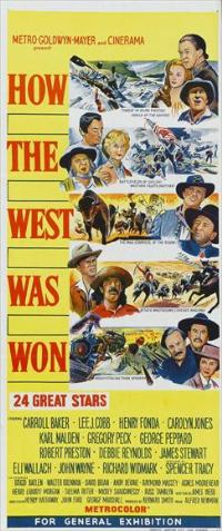 How the West Was Won - 13 x 30 Movie Poster - Australian Style A
